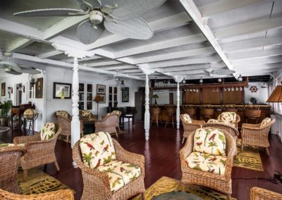 The bar at the Great House Nisbet Plantation Nevis-WIDE