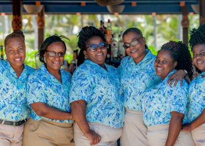 The best hotel staff in the world at Nisbet Plantation on Nevis-WIDE