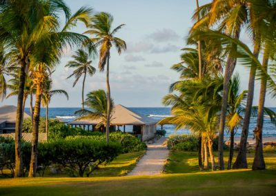 Cottages just steps from the beach and our beach amenities at Nisbet Plantation Nevis