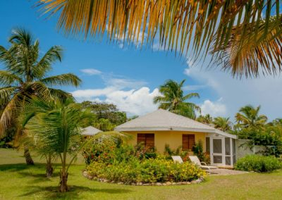 Cottages scattered around the grounds at Nisbet Plantation Beach Club Nevis