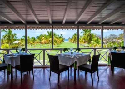 Dining at the Great House at Nisbet Plantation Beach Club Nevis