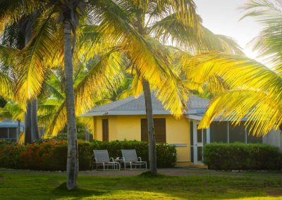 Garden View Deluxe Suites among the palms at Nisbet Beach Hotel and Resort Nevis