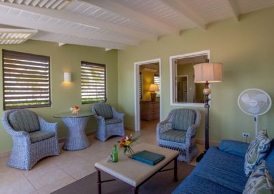 Spacious living areas at Nisbet Plantation Inn Cottages on Nevis