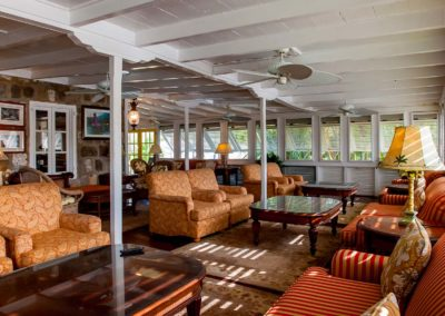 The interior of the Great House at Nisbet Plantation Beach Hotel on Nevis